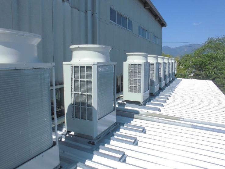 2020年6月完成 中津川市内工場空調設備工事